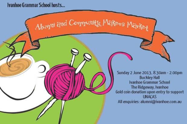 Ivanhoe Grammar Community market postcard_Page_1