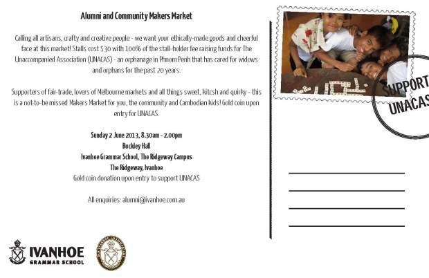 Ivanhoe Grammar Community market postcard_Page_2
